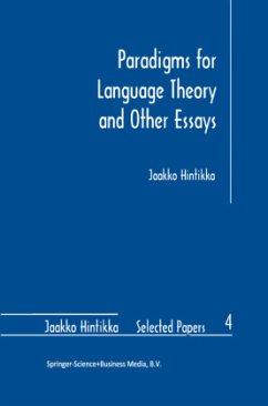 Paradigms for Language Theory and Other Essays - Hintikka, Jaakko