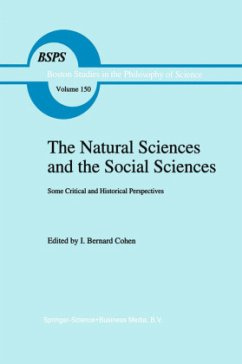 The Natural Sciences and the Social Sciences: Some Critical and Historical Perspectives - Cohen