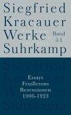 Essays, Feuilletons, Rezensionen, 4 Bde. / Werke Bd.5