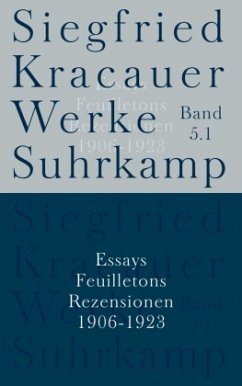 Essays, Feuilletons, Rezensionen, 4 Bde. / Werke 5 - Kracauer, Siegfried