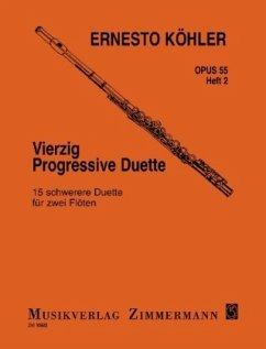 Vierzig progressive Duette op. 55 für 2 Flöten