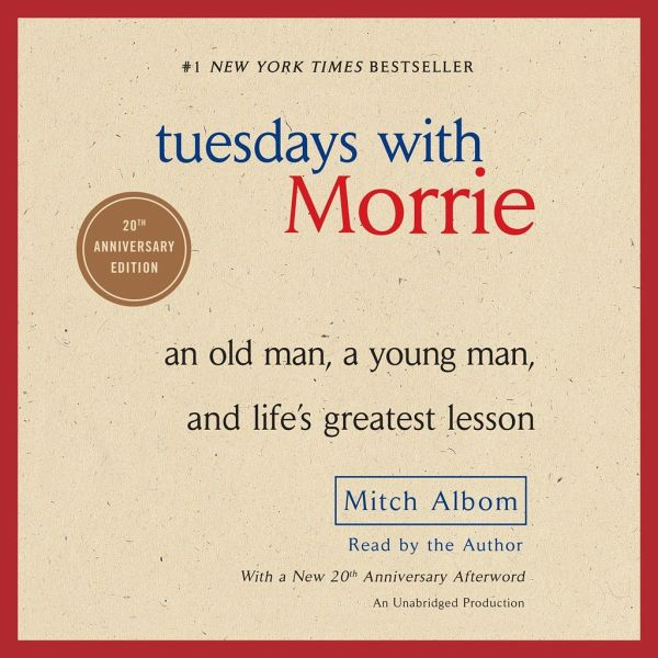 life lessons mitch learned in tuesdays with morrie The way you get meaning into your life is to devote yourself to loving others, devote yourself to your community around you, and devote yourself to creating something that gives you purpose and meaning if we only learned those lessons, this world would be so much better a place (p 163) 26.