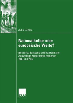Nationalkultur oder europäische Werte? - Sattler, Julia