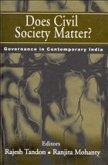 Does Civil Society Matter?: Governance in Contemporary India