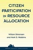 Citizen Participation in Resource Allocation