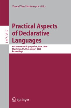 Practical Aspects of Declarative Languages - van Hentenryck, Pascal (ed.)