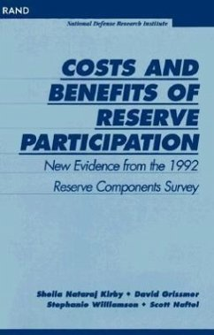 Costs and Benefits of Reserve Participation: New Evidence from the 1992 Reserve Components Survey - Kirby, Sheila Nataraj; Grissmer, David W.; Williamson, Stephanie