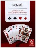 Rommé, Club, Französisches Bild, extra große Eckzeichen (Spielkarten)