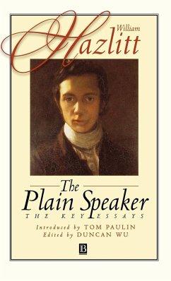 Plain Speaker - Hazlitt