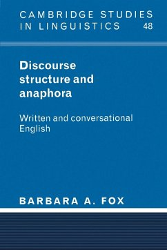 Discourse Structure and Anaphora - Fox, Barbara A.