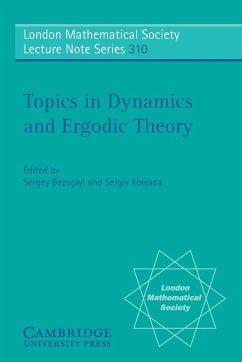Topics in Dynamics and Ergodic Theory