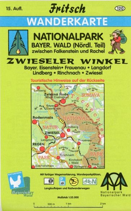 Nationalpark Bayerischer Wald Karte.Fritsch Karte Nationalpark Bayerischer Wald Nördlicher Teil Zwieseler Winkel