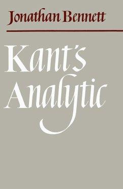 Kant's Analytic - Bennett, Jonathan