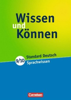 Wissen und Können. 9./10. Schuljahr. Sprachwissen
