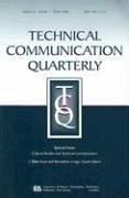 Technical Communication Quarterly, Volume 15: Cultural Studies and Technical Communication, Number 1