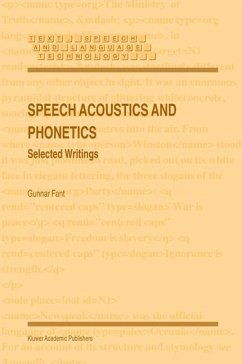 Speech Acoustics and Phonetics - Fant, Gunnar
