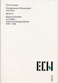Nachgelassene Manuskripte und Texte 10. Kleinere Schriften zu Goethe und zur Geistesgeschichte