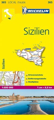 Michelin Karte Sizilien; Sicilia