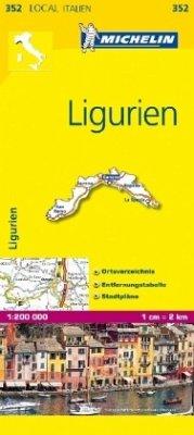 Michelin Karte Ligurien; Liguria