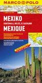 Marco Polo Karte Mexiko, Guatemala, Belize, El Salvador; Mexique, Guatemala, Belize, El Salvador; Mexico, Guatemala, Bel