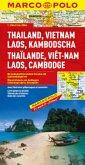 Marco Polo Karte Thailand, Vietnam, Laos, Kambodscha; Thailande, Viet-Nam, Laos, Cambodge / Thailand, Vietnam, Laos, Cam