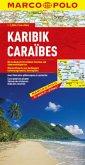 Marco Polo Karte Karibik; Caraibes; El Caribe; Caribbean