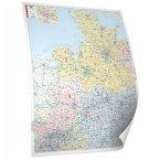 Bacher Postleitzahlen-Karte Nord-West, Posterkarte, beschichtet