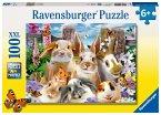 Ravensburger 10949 - Hasen-Selfie, Puzzle, Kinderpuzzle, 100 Teile XXL