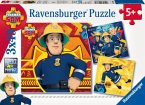 Fireman Sam: Bei Gefahr Sam rufen. Puzzle 3 x 49 Teile