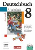 Deutschbuch 8. Schuljahr. Arbeitsheft mit Lösungen und CD-ROM. Gymnasium. Allgemeine Ausgabe