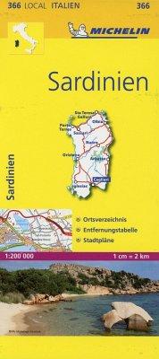 Michelin Karte Sardinien
