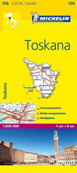 Toskana Karte Deutsch.Michelin Karte Toskana Toscana