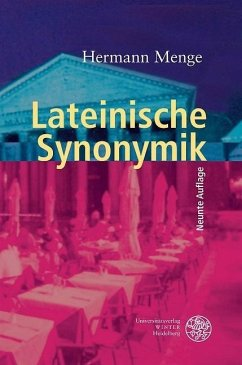 Lateinische Synonymik - Menge, Hermann