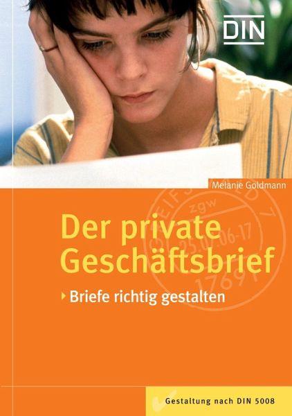 Private Briefe Richtig Adressieren : Der private geschäftsbrief von m goldmann buch bücher