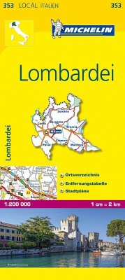Michelin Karte Lombardei; Lombardia