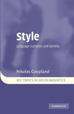 Style - Coupland, Nikolas