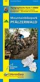 Topographische Karte Rheinland-Pfalz Mountainbikepark Pfälzerwald