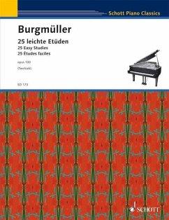 25 leichte Etüden op.100, für Klavier