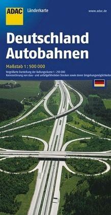 ADAC Karte Deutschand Autobahnen; German motorways