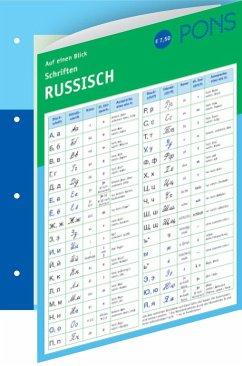 Pons Schriften Auf Einen Blick Russisch Portofrei Bei Bucher De Bestellen