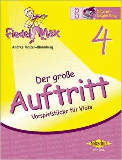 Fiedel-Max für Viola - Der große Auftritt, Klavierbegleitung