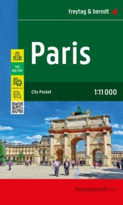 Freytag & Berndt Stadtplan Paris; Parigi; Parijs; Pariz; Parizs; Paryz