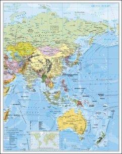 Asien politisch. Wandkarte