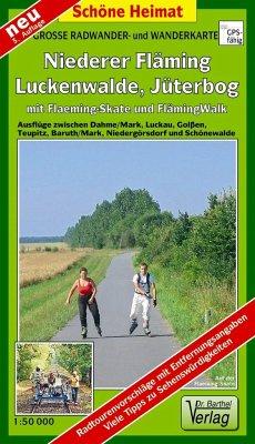 Doktor Barthel Karte Niederer Fläming, Luckenwalde, Jüterborg mit Fläming-Skate und FlämingWalk