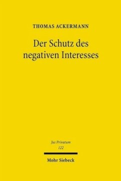 Der Schutz des negativen Interesses - Ackermann, Thomas