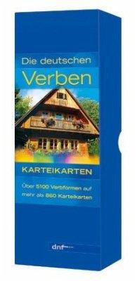 Karteikarten. Die deutschen Verben