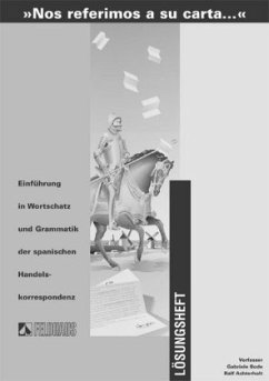 Lösungsbuch / 'Nos referimos a su carta . . .' - Bode, Gabriele; Achterholt, Ralf