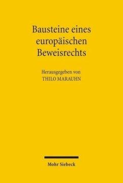 Bausteine eines europäischen Beweisrechts - Marauhn, Thilo (Hrsg.)