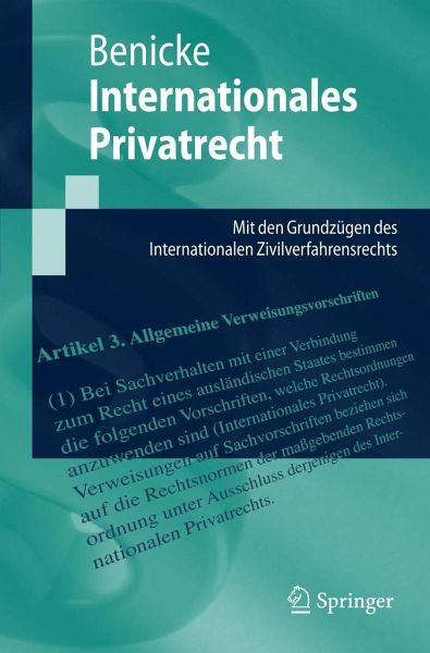 Internationales Privatrecht - Benicke, Christoph