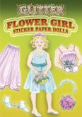 Glitter Flower Girl Sticker Paper Doll [With 12 Stickers]